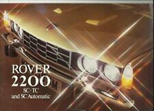 ROVER 2200 SC, 2200 TC AND 2200 SC AUTOMATIC SALE BROCHURE OCTOBER 1973 FOR 1974