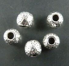 130pcs Tibetan Silver Ball Round Spacer Beads 7x6mm 2590