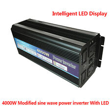 4000W / 8000W Peak POWER INVERTER DC 12V TO AC 220V - 240V WITH USB LED DISPLAY