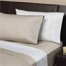 Logan and Mason GENUINE 1000tc EGYPTIAN Cotton Fitted Sheet Set KING SIZE WHITE