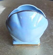 Pretty lustre blue shell shaped posy vase