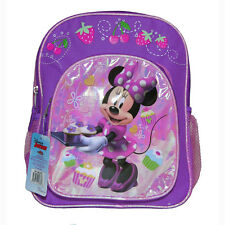 """Disney Minnie Mouse Kids School 12"""" BACKPACK - 2 COMPARTMENT BOOK BAG NWT"""