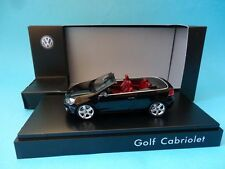 VOLKSWAGEN GOLF VI CABRIOLET - BLACK / NEGRO - 1/43 NEW SCHUCO VW DEALER