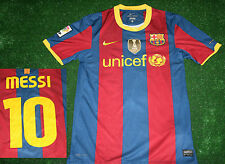 MESSI jersey nike FC BARCELONA shirt S small kit lfp unicef fifa world cup 09
