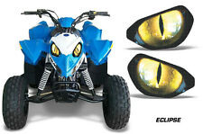AMR Racing Head Light Eyes Polaris Outlaw 90 ATV Headlight Decals Part ECLIPSE Y