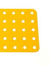 Meccano Part 75c Flat Plate 5x25 Hole UK Yellow