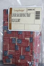 Longaberger- Small Serving Tray Basket Liner in Old Glory #20080140 New