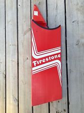 FIRESTONE Tires Display Dealer Stand Plastic Advertising Sign 16x50 Man Cave