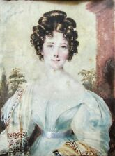 A 19th Century British School Miniature Portrait Painting of a Young Lady c.1825