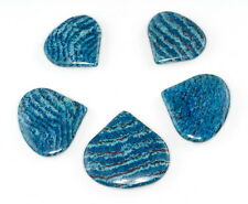 """30X28-40X38MM BLUE SCHILLER SHEEN SPAR GEMSTONE PEAR LOOSE BEADS 8"""""""