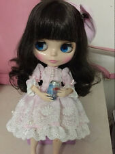 """12"""" Neo Blythe Doll from Factory Black Hair Joint Body Nude Doll JSW32010-12"""