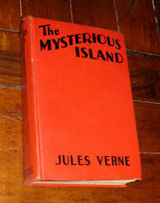 Antique BOOK: The Mysterious Island Jules Verne 1929 Photoplay Ed Movie Grosset