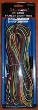 NEW 25' FOOT LONG TRAILER LIGHT WIRE 4 FLAT WIRING EXTENSION KIT WITH HARDWARE