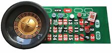 MASSIVE ROULETTE SET - HUGE WHEEL, FULL SIZE CHIPS, RAKE, BALL, CARDS, LAYOUT++