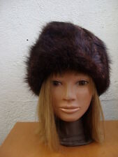 MINT DARK BROWN MUSKRAT FUR HAT WOMEN WOMAN SIZE ALL