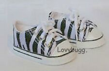 "Zebra Sneakers Shoes for 18"" American Girl Doll Lovvbugg Widest Selection Online"