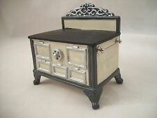 Stove - White Porcelain   1.843/0 miniature dollhouse furniture metal 1/12 scale