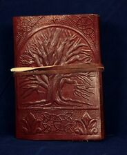 TREE OF LIFE LEATHER JOURNAL HANDMADE BLANK BOOK OF SHADOWS DIARY NOTEBOOK SMALL