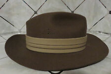 Men's KIFFE Hat Brown Fedora 100% Wool Size Medium Made in U.S.A. NEW