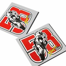 MARCO SIMONCELLI 58 MOTO GP `ART` stickers motorcycle decals graphics x 2