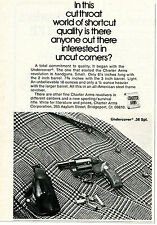 1974 small Print Ad of Charter Arms Undercover .38 Special Revolver
