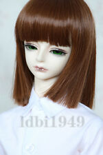 "1/3 8-9""LUTS Pullip SD BJD Dod LUTS Doll Wig Short Brown Hair"