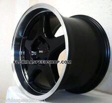 """C4 ZR1 Black/machined Corvette wheels/rims  17x9.5/17x11"""" 1988-1996 C4 SET"""