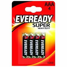 4 Pack Eveready Super Heavy Duty Zinc AAA Batteries R03