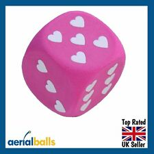 REDUCED...Pink & White Heart Dice Car Aerial Ball Anntena Topper
