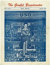 Vintage Nov 1944  issue of Gimbels Broadcaster Employees Magazine USO Cover