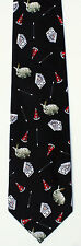 New Magician Mens Necktie Magic Tricks Rabbit  Wand Magicians Black Neck Tie