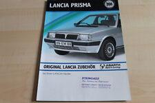 109881) Lancia Prisma Abarth Zubehör Prospekt 198?