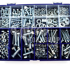 436 ASSORTED PIECE M4 M5 M6 M8 M10 SETSCREW BOLTS NUTS WASHERS ZINC BZP KIT