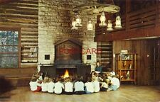 CAMPERS GATHER IN THE GIRL SCOUT CAMP LODGE near BYRON, ILLINOIS