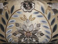 Mulberry LEE JOFA Throw pillows embroidered DIVA SILK fabric custom new PAIR