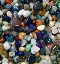 130-180  colorful Mixed Natural Assorted bulk tumbled Gem stone mix 1lb Lot