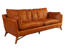 Bantry Sofa 3 Sitzer Design Ledersofa Columbia Brown Vintage Leder Möbel Couch