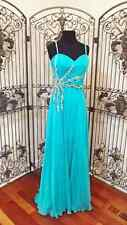 Dave and Johnny 7058 Prom Dress BRAND NEW Dance Dress ICE BLUE Full Length Dress