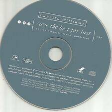 VANESSA WILLIAMS Save the best for last 1991 USA PROMO Radio DJ CD single MINT