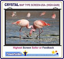 6Ft.(W)x4Ft.(H), CRYSTAL MAP TYPE PROJECTOR SCREEN(Sup. HIGH GAIN)