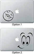 Smiley Face Decal Sticker Skin Apple Mac Book Air/Pro Dell Laptop iPad Mini 1