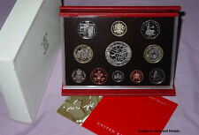 2003 ROYAL MINT DELUXE PROOF SET FOR GB - Coronation £5 & DNA Discovery £2