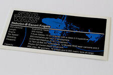 Lego Star Wars UCS / MOC Sticker for Nebulon-B Escort Frigate + Instructions