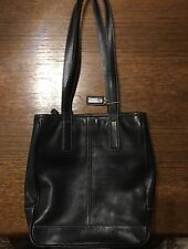 COACH Black Leather Hampton's Market Lunch Tote Satchel Shoulder Bag 7776