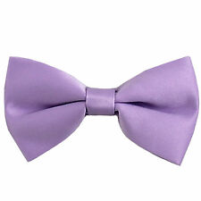 New KID'S BOY'S 100% Polyester Pre-tied Bow tie only lavender formal wedding