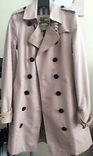 Burberry London pink heritage trench coat, US 6