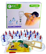 Kangzhu 24-Cup Biomagnetic Chinese Cupping Therapy Set, New, Free Shipping