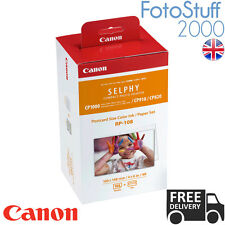 Canon RP-108 4x6 In 4R Ink & 108 Photo Paper Set for CP1000 Series & CP910 CP820