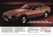 TOYOTA CELICA SUPRA 1983 RETRO POSTER A3 PRINT FROM CLASSIC 80'S ADVERT