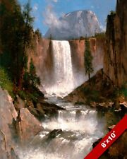 Yosemite Park Half Dome Vernal Falls Painting Art 8X10 REAL CANVAS GICLEE PRINT